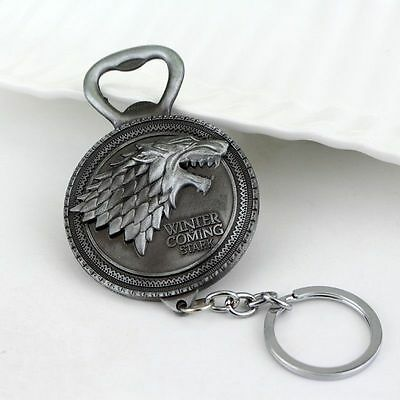 NEW Game of Thrones Stark Bottle Opener Winter is Coming FREE USA SHIPPING