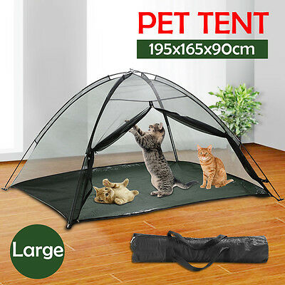 Portable Indoor Outdoor Pet Dog Cat PlayPen Enclosure Exercise Cage Play Tent