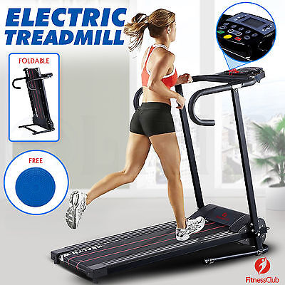 New Electric Motorized Treadmill Folding Portable Running Machine Fixed Incline