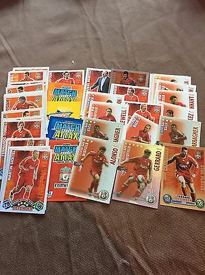 Over 50 LIVERPOOL Match Attax Shoot  Out Football Trading Cards Job Lot