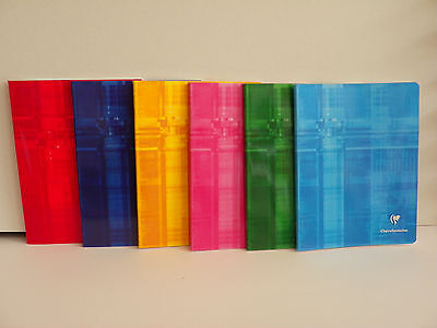 CLAIREFONTAINE STAPLED NOTEBOOK  17x22 FRENCH RULING  SEYES 6.7x8.67''