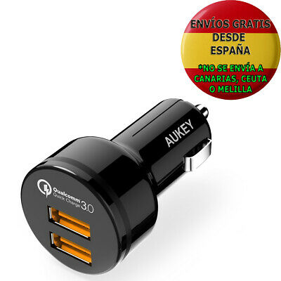 Cargador De Red 18W Para Movil Aukey Quick Charge 3.0 Iphone 7 / 7 Plus, Samsung