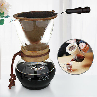 Cold Drip Coffee Maker Water Ice Dutch Brew Machine w/ Filter Bag for 5 Cups