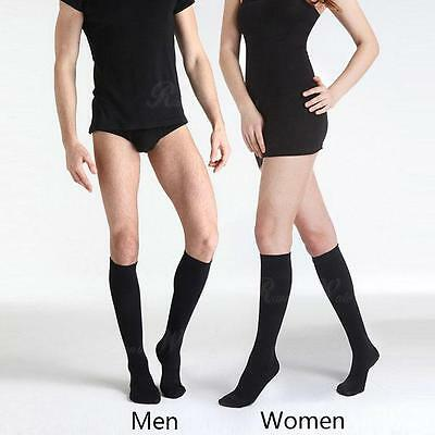 Unisex Mens Ladies Flight Socks Travel Comfy Safe DVT Compression Socks KneeHigh