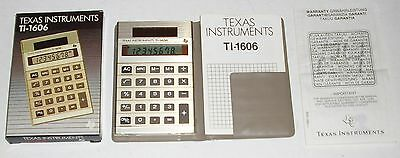 Texas Instruments Ti-1606 Vintage Calculator Solar Powered With Instructions.