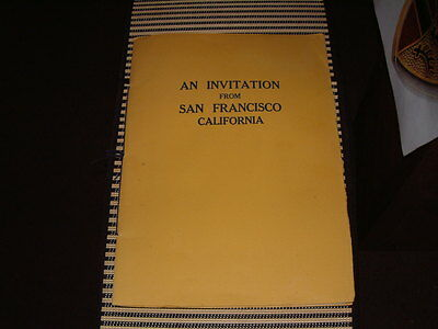 An Invintation Inviting The Democratic National Convention To San Fran In 1928!!