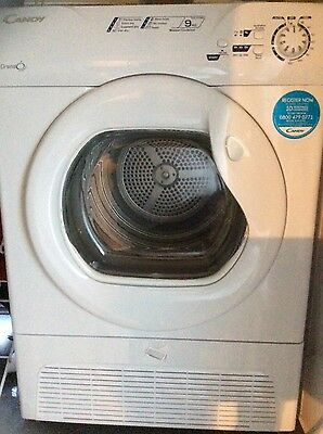 1 WEEK OLD 9kg LOAD CANDY GCC591NB CONDENSER TUMBLE DRYER COLLECTION ME7