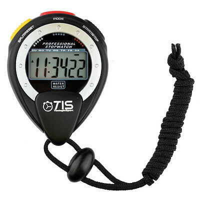 TIS Pro 025 Water-Resistant Stopwatch - Large Scale Display / Chrono Data