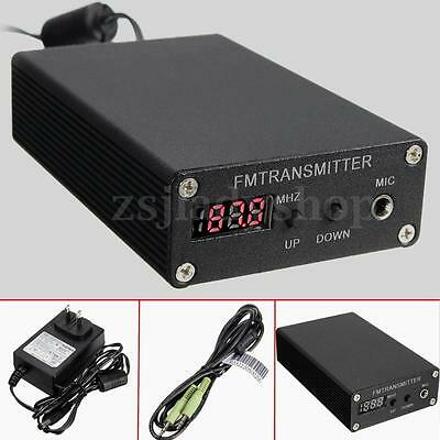87~109MHz Stereo Digital 5W Radio Station Transmitter Mini FM Broadcast + Cable