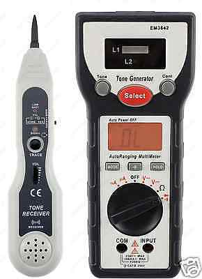 LAN Tone Probe Cable Tracer Digital Multimeter Tester Network Electrician