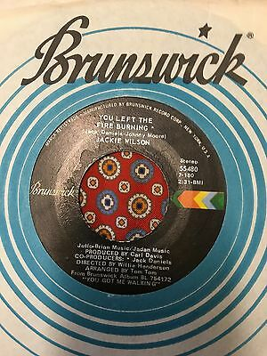Jackie Wilson You left the fire Burning Brunswick Northern Soul