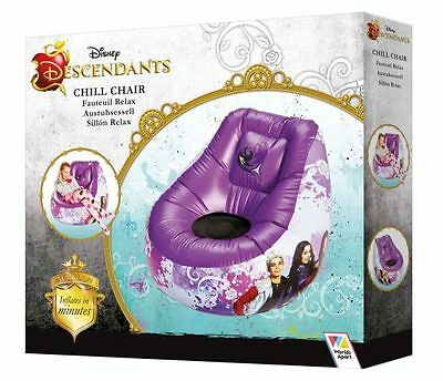 NEW Disney Channel Descendants Kids Inflatable Chill Bedroom Chair RRP £29.99