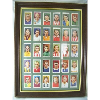 Vintage 1930s Wills Football Cigarette Cards Framed And Mounted
