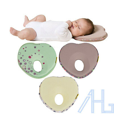 Newborn Baby Infant Foam Memory Pillow Anti Roll Prevent Flat Head Support Neck
