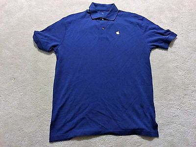 NEW STYLE 2016 Official Apple Polo Collar Retail Store T-Shirt Small Blue RARE