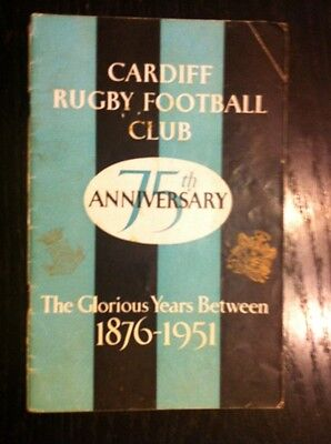 Cardiff Rugby Programme 1951 v 1950 British Lions