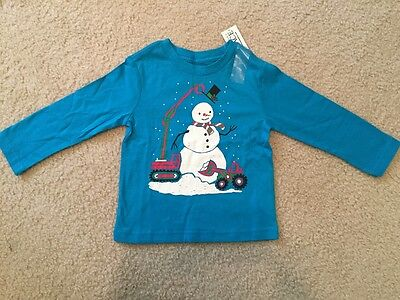 NWT Children's Place Baby Toddler Boys Long Sleeve Shirt Size 18-24 Months