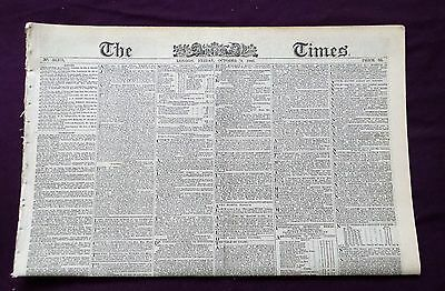 Original Newspaper Friday   October  9th 1885,  THE TIMES, LONDON