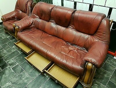 3 seater sofa and chair and bench. Set of 3.