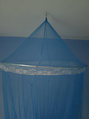 Blue Bed Canopy Netting Curtain Dome