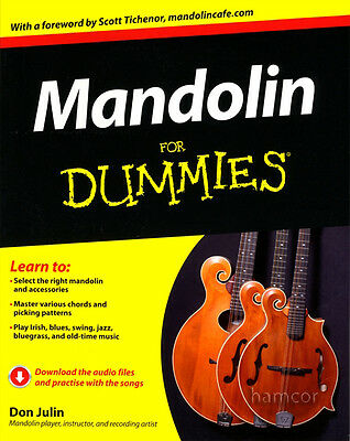 Mandolin for Dummies TAB Book & FREE DOWNLOAD Learn How to Play Tutor Method