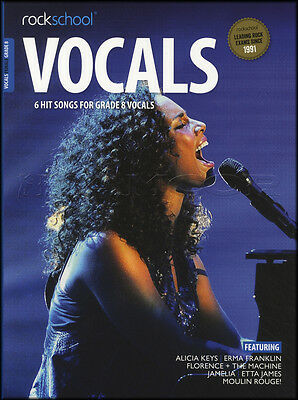 Rockschool Vocals Female Grade 8 Sheet Music Book with Audio Exams Tests