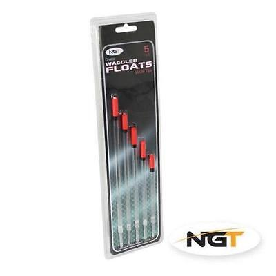 NGT Pack of 5 Wide Tip Coarse Fishing Waggler Floats