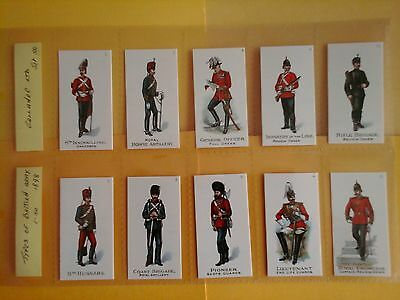Gallaher Types of British Army 1-50 F / S Mint In Sleeves ( Repro )