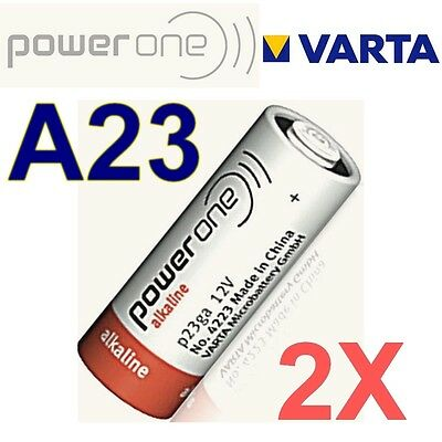 Lot de 2 piles A23 POWER ONE by VARTA 12 Volts  LR23A GP23A V23GA MN21 -BULK-