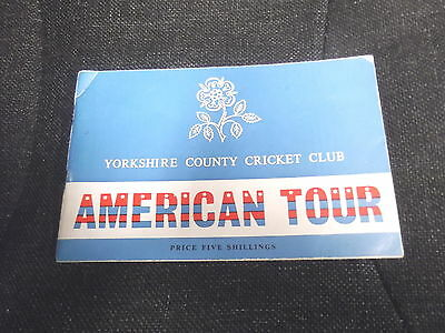 Yorkshire CCC - American Tour compiled by Philip Sharpe (1965)