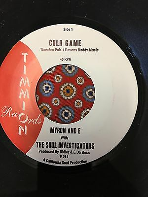 Myron  and E and With the Soul Investigators  Cold Game Timmion Northern Soul