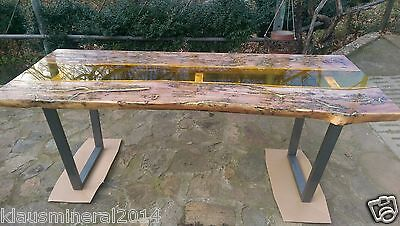 Modern Dining Table Solid Wood, River Glass Top Epoxy Resin