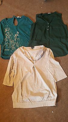 3x Maternity Tops Size 14 Next, Dorothy Perkins, M&S
