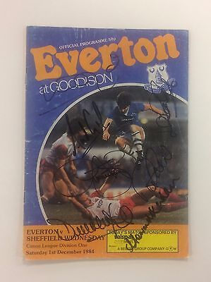 Multi Signed Everton 1984/85 Programme & COA - Signed x 7