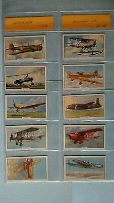 Gallagher Aeroplanes Full Set Very Good Condition In Sleeves