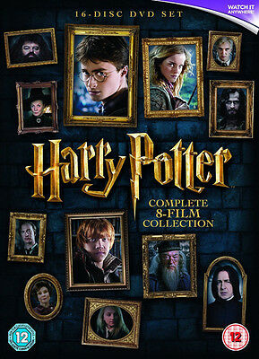 Harry Potter 1 - 8 DVD Complete Collection Movie Films Brand New BoxSet UK