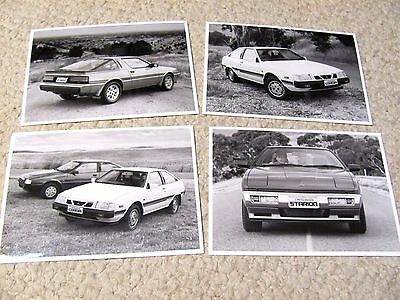 1986 AUSTRALIAN MITSUBISHI (4 PRESS PHOTOS)....rare
