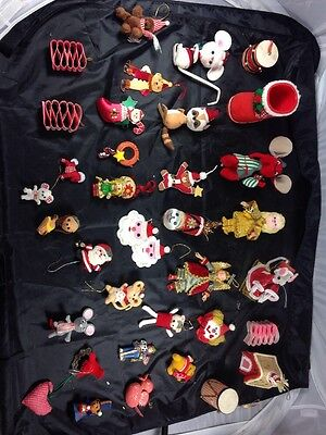 Lot Of 36 Antique/vintage Christmas Ornaments, Must See. Small&large Items Decor