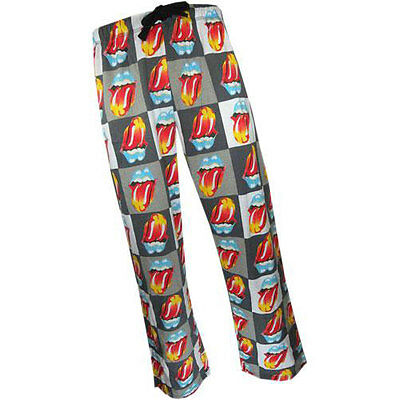 Rolling Stones - Licks Tongue Cotton Lounge Pants - New & Official In Pack