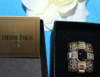 Heidi Daus Signed Jaw Dropping Ring In Excellent Condition With Original Tag&box