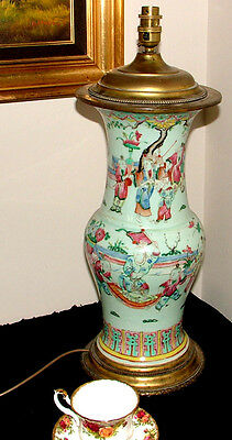 Large Lamp Made From An Antique Chinese  Cloisonne Vase