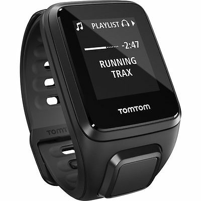 NEW SEALED TomTom Spark Cardio+Music Fitness Watch+Heart Rate (Small) - Black