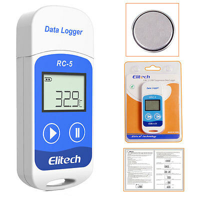 Elitech(UK) RC-5 USB Temperature Data logger 32000 Points Internal Sensor Record