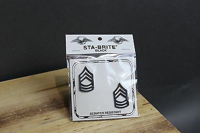 New E-7 SFC Sergeant First Class E7 Pin-On Rank Insignia Submetal Sta-Black
