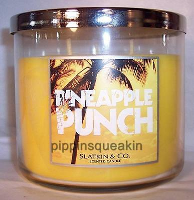 Bath and Body Works Slatkin 3-wick 14.5 oz Candle Pineapple Punch