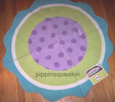 CIRCO Accent Rug Purple Blue Green Buds N Blossoms