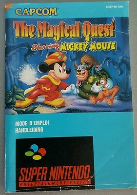 Notice nintendo snes, the magical quest mickey mouse