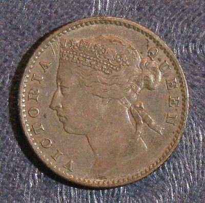 1878 Straits Settlements 10 Cents Silver KM #11; Nice XF Coin