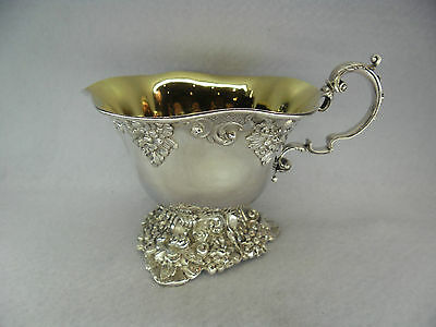 Stunning French c.1880 Solid Silver Gilt Coffee Cup