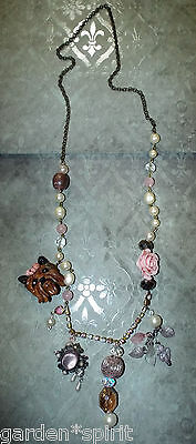 Yorkshire Terrier Yorkie Necklace Glamour Boutique Boho Mix Style Jewelry OOak